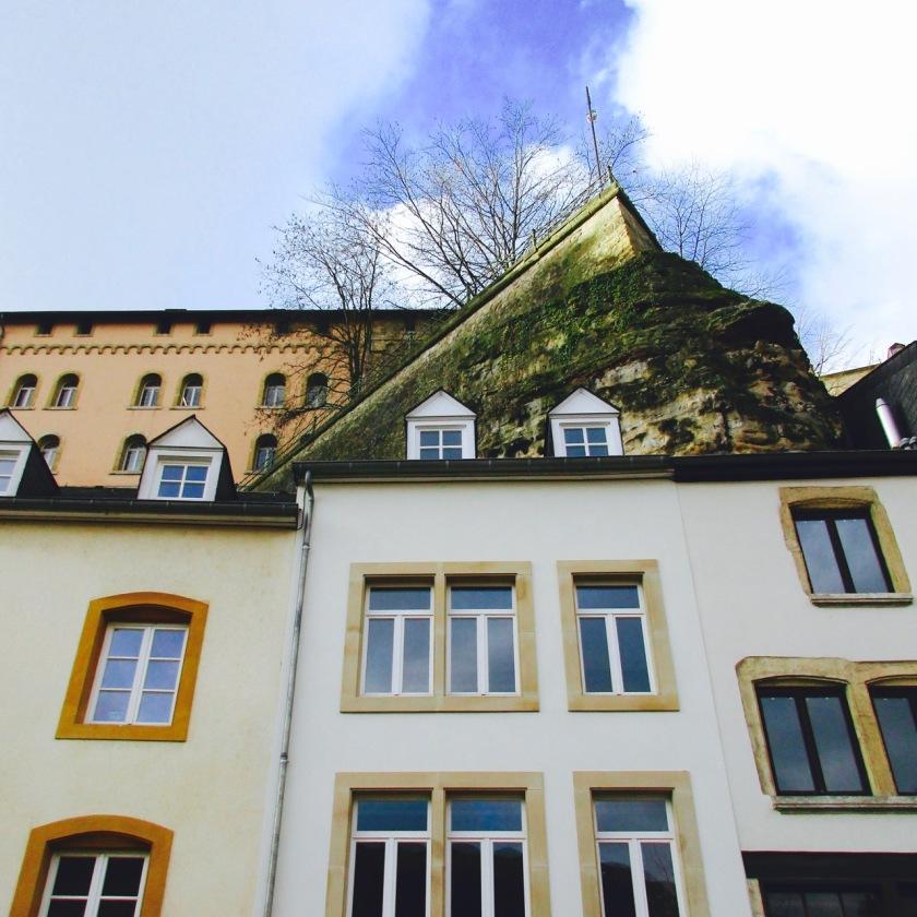 Rumah di level atas, dilihat dari Grund